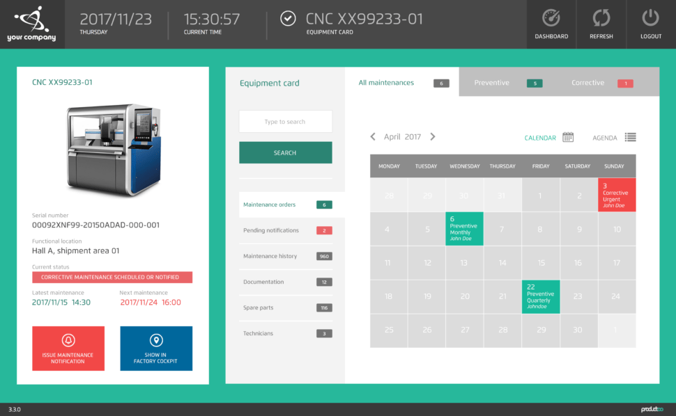 Mobile Maintenance Productoo (CMMS)