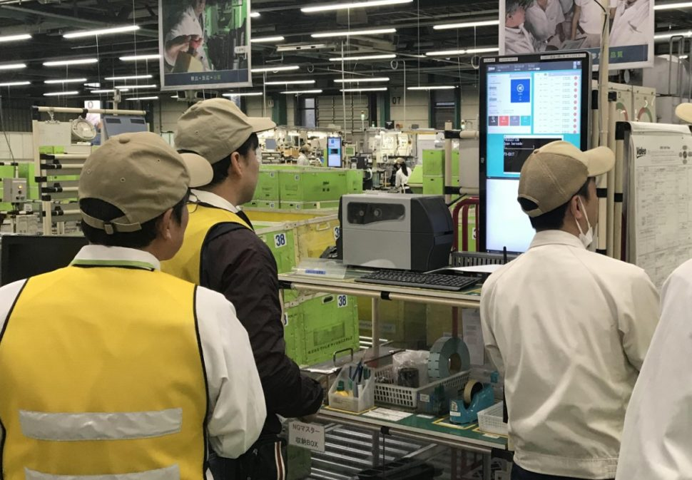 Digital workstation at the shopfloor of manufacturing plant